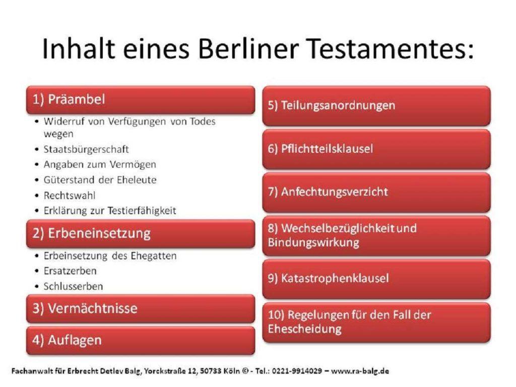 Berliner Testament Muster - Rechtsanwalt Erbrecht Köln - Kanzlei Anwalt Detlev Balg - Fachanwalt für Erbrecht