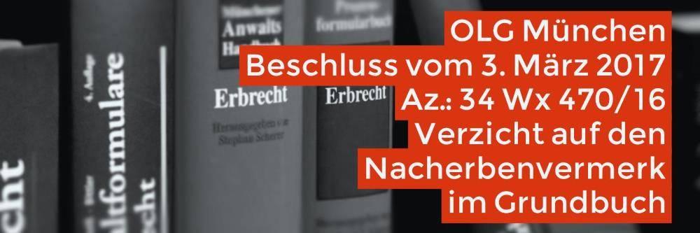 Erbrecht: Grundbuch Nacherbenvermerk Verzicht | Der Verzicht auf den Nacherbenvermerk im Grundbuch berührt die Nachlasszugehörigkeit der Immobilie nicht - Rechtsanwalt Erbrecht Köln