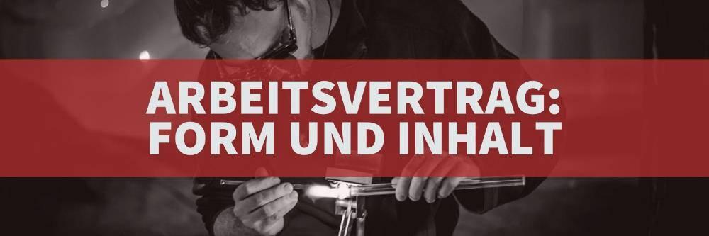 Arbeitsrecht: Arbeitsvertrag Form und Inhalt | Rechtsanwalt Arbeitsrecht Köln Nippes - Kanzlei Balg und Willerscheid