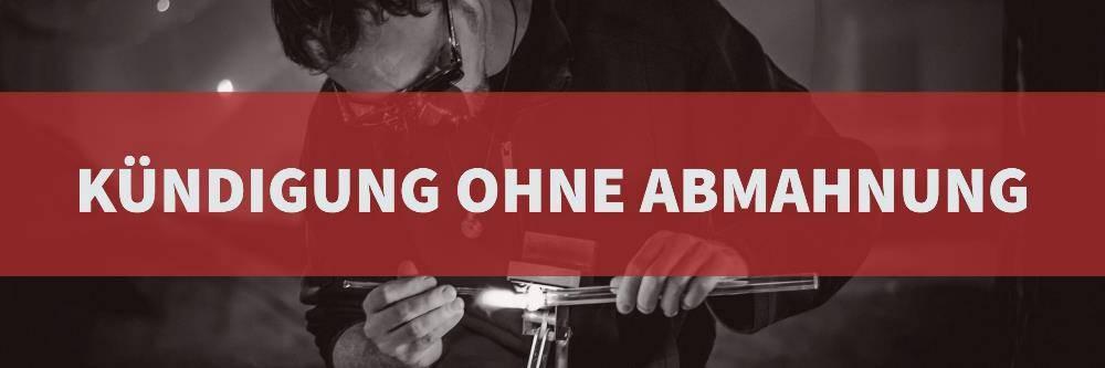 Arbeitsrecht: Kündigung ohne Abmahnung | Rechtsanwalt Arbeitsrecht Köln | Kanzlei Balg und Willerscheid - Rechtsanwälte und Fachanwälte