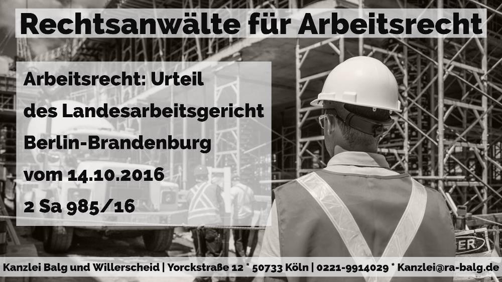 Kündigung Arbeitszeit Arbeitszeitbetrug Rechtsanwalt Arbeitsrecht Köln