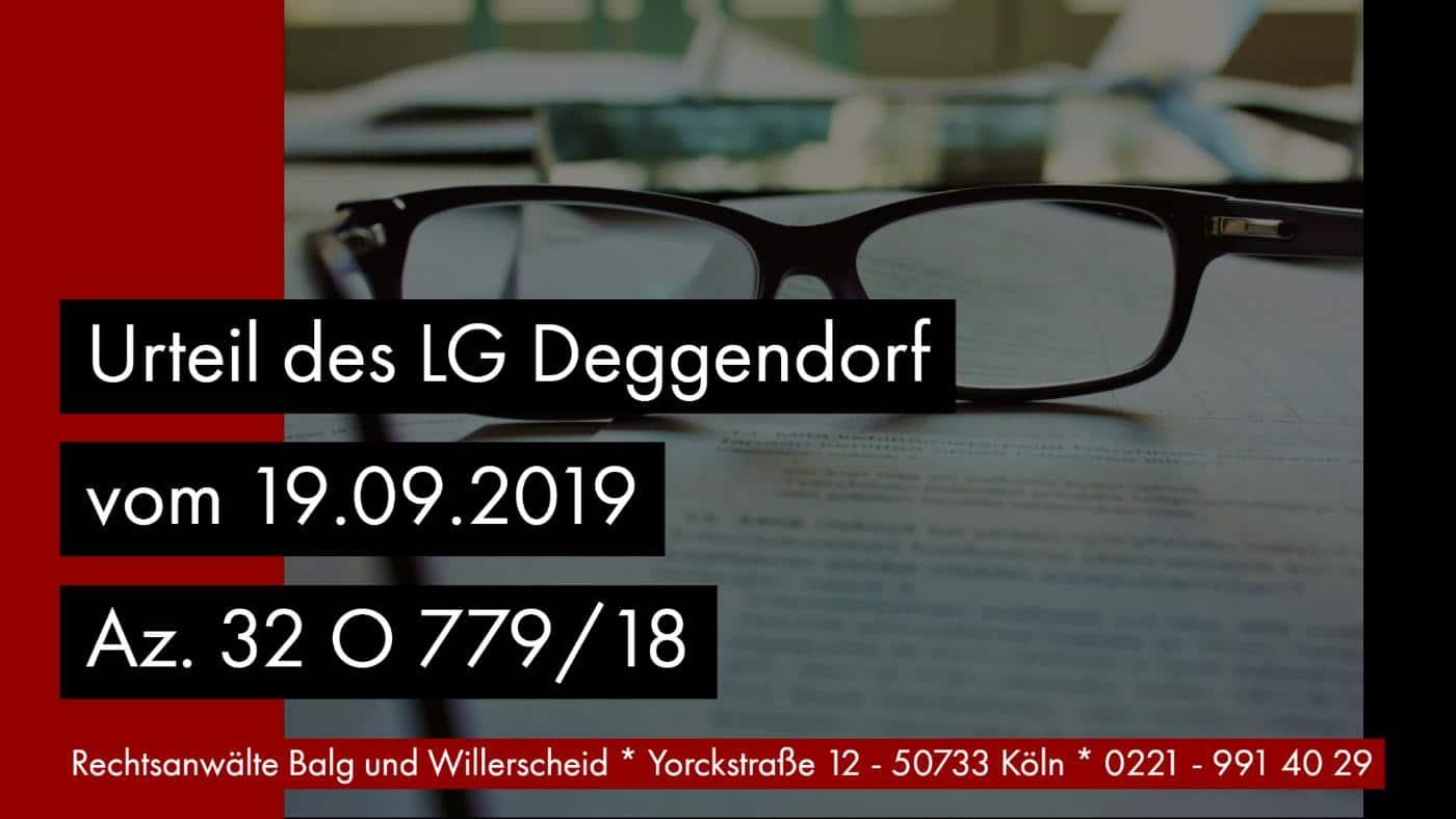 Pflichtteilsverzicht Erlassvertrag - LG Deggendorf Urteil vom 19.09.2019 Az. 32 O 779-18 - Rechtsanwalt und Fachanwalt für Erbrecht Detlev Balg Köln