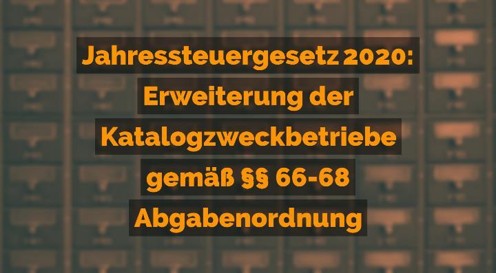 Jahressteuergesetz 2020: Erweiterung der Katalogzweckbetriebe gemäß 66-68 Abgabenordnung | Rechtsanwalt für Vereinsrecht Detlev Balg - Yorckstraße 12 * 50733 Köln