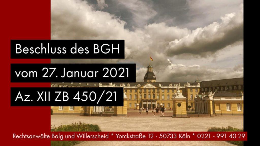 Erbvertragsrücktritt gegenüber einem Bevollmächtigten - BGH Beschluss vom 27. Januar 2021 - Az. XII ZB 450/29 | Rechtsanwalt und Fachanwalt Detlev Balg - Köln