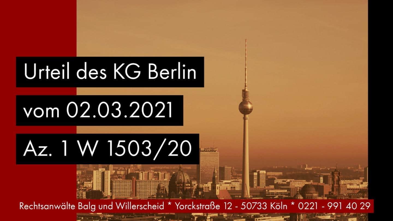 Transmortale Vollmacht statt Erbschein - KG Berlin - Beschluss vom 02-03-2021 Az. 1 W 1503-20 - Rechtsanwalt und Fachanwalt für Erbrecht Detlev Balg Köln